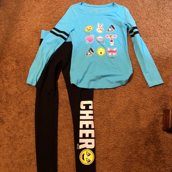 Justice Other - Justice emoji top and leggings sz 12-14